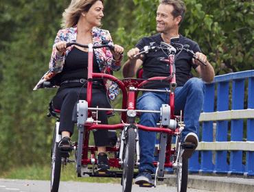 Duofiets om samen te fietsen